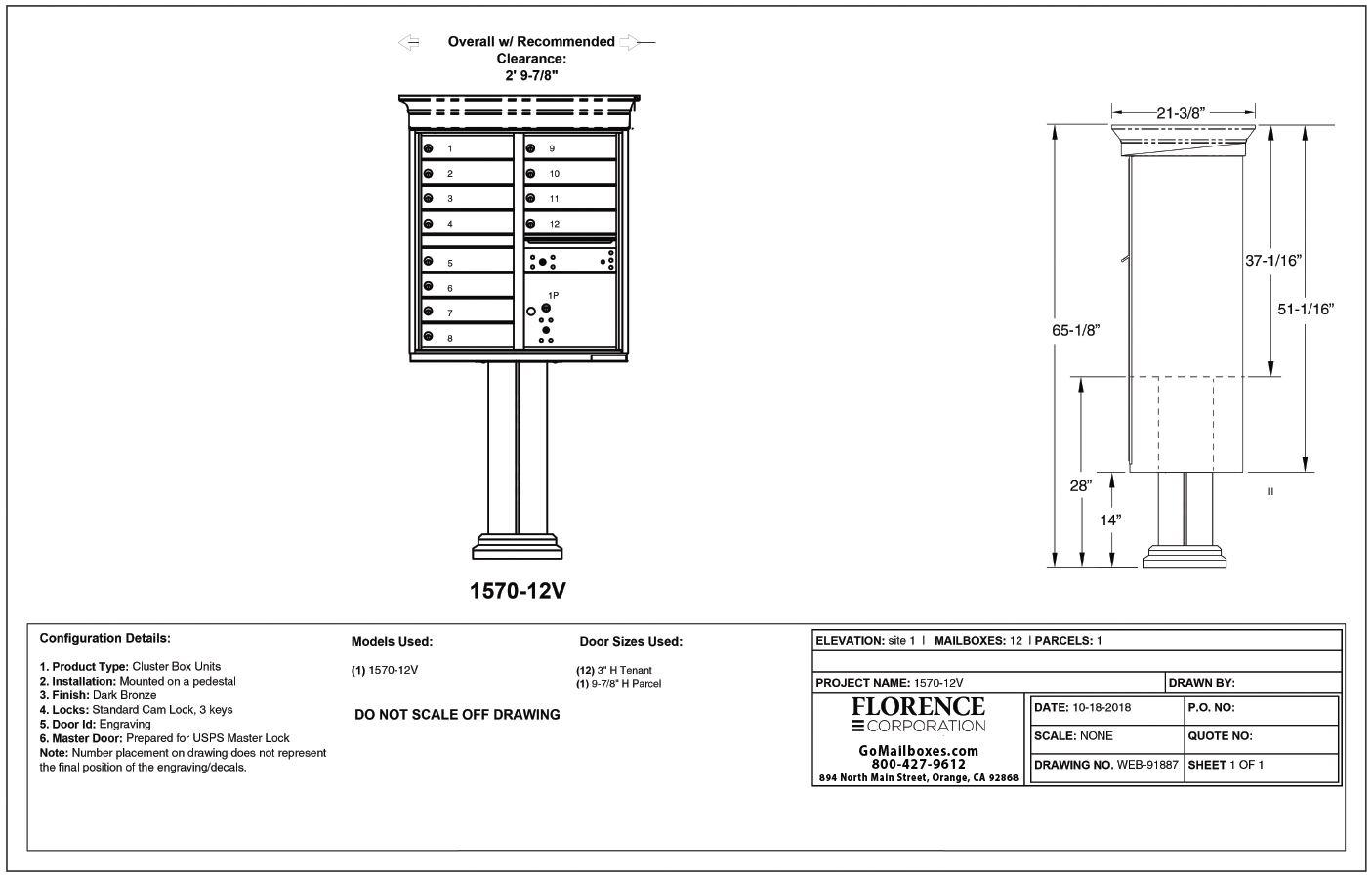 12 Door Classic CBU Diagram