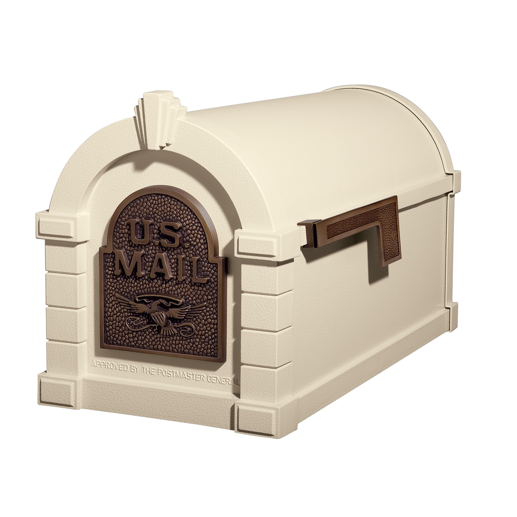 Gaines Eagle Keystone Mailboxes - Almond with Antique Bronze