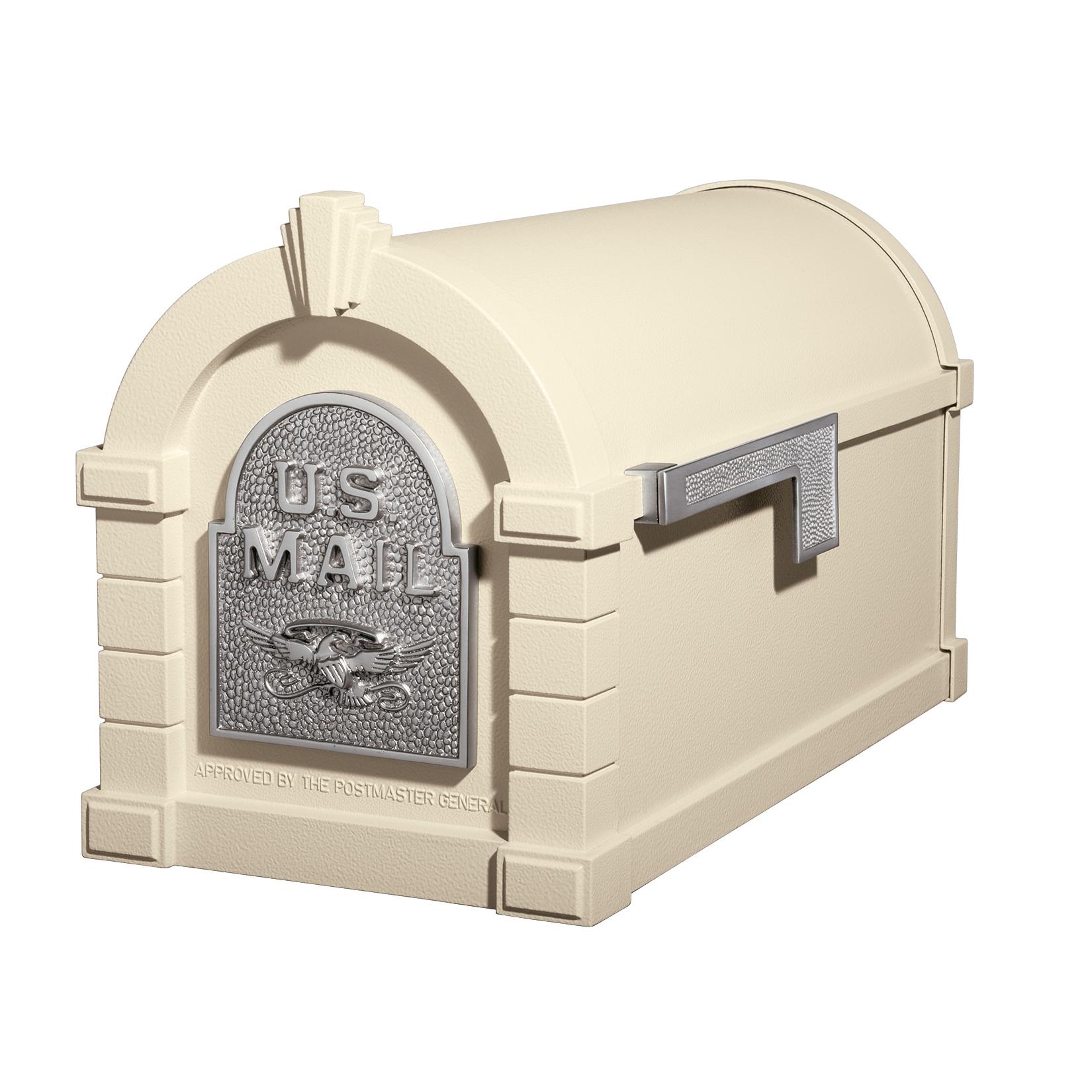 Gaines Eagle Keystone MailboxesAlmond with Satin Nickel