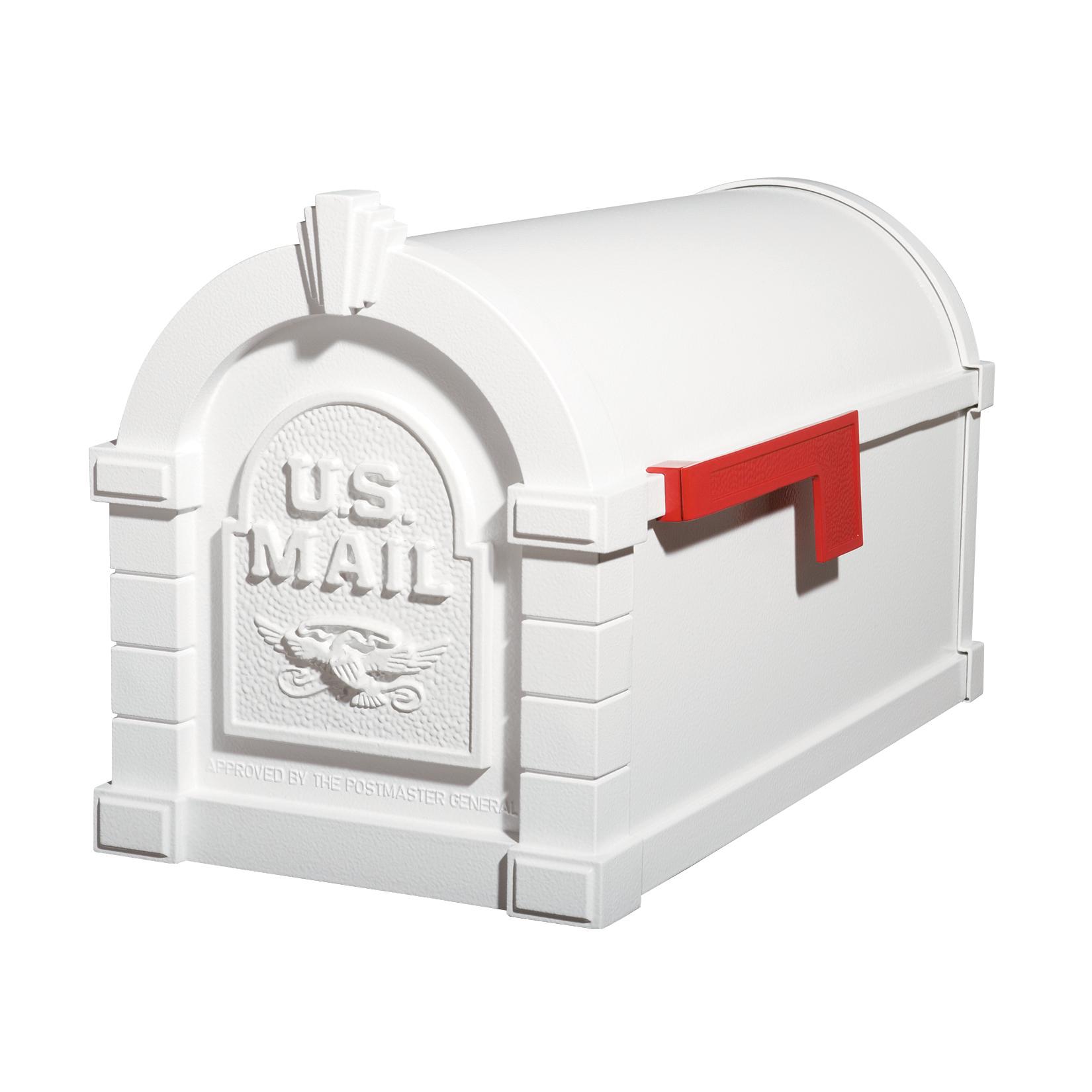 Gaines Eagle Keystone MailboxesAll White