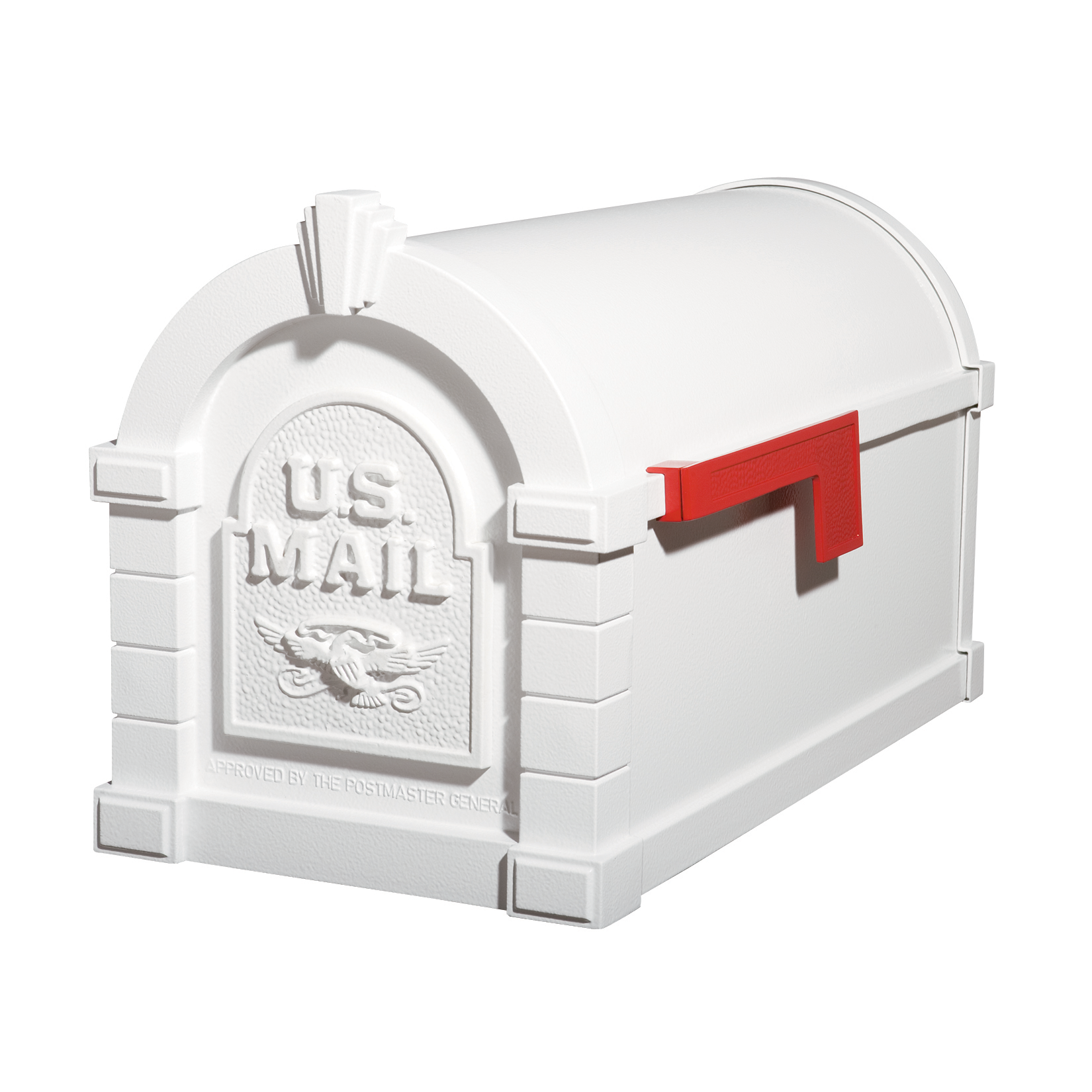 Gaines Eagle Keystone Mailboxes - All White