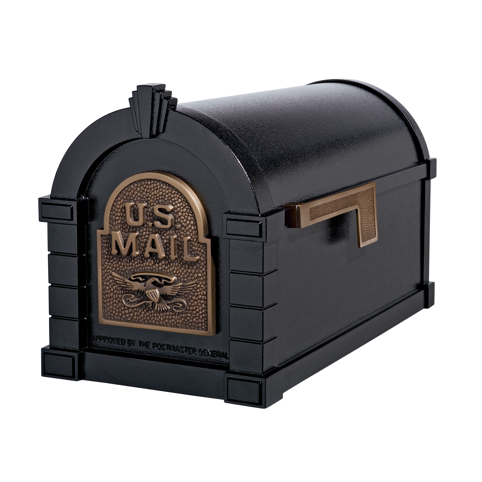 Gaines Eagle Keystone Mailboxes - Black with Antique Bronze