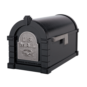 Gaines Eagle Keystone MailboxesBlack with Satin Nickel