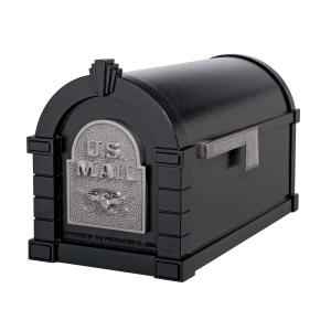 Gaines Eagle Keystone MailboxesBlack with Satin Nickel