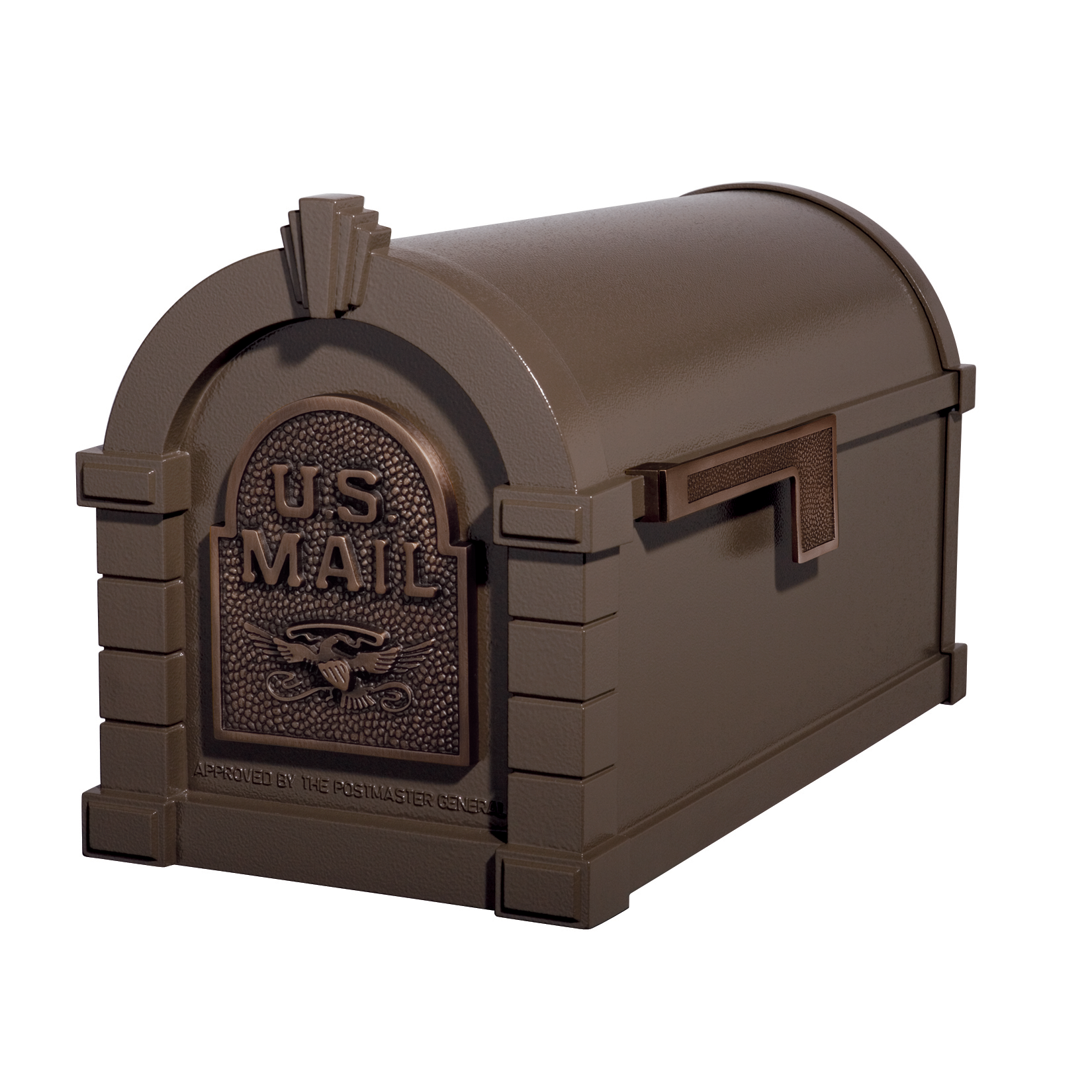 Gaines Eagle Keystone Mailboxes - Bronze with Antique Bronze