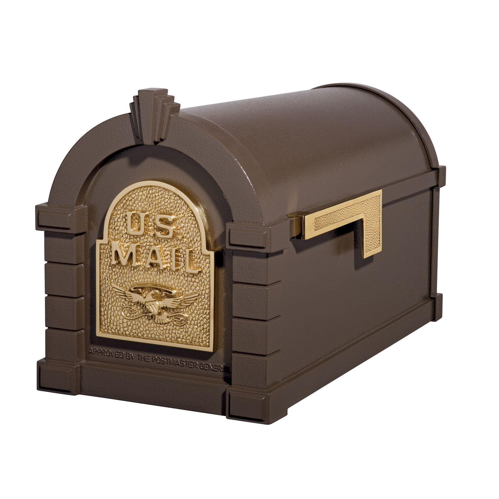 Gaines Eagle Keystone Mailboxes - Bronze with Polished Brass