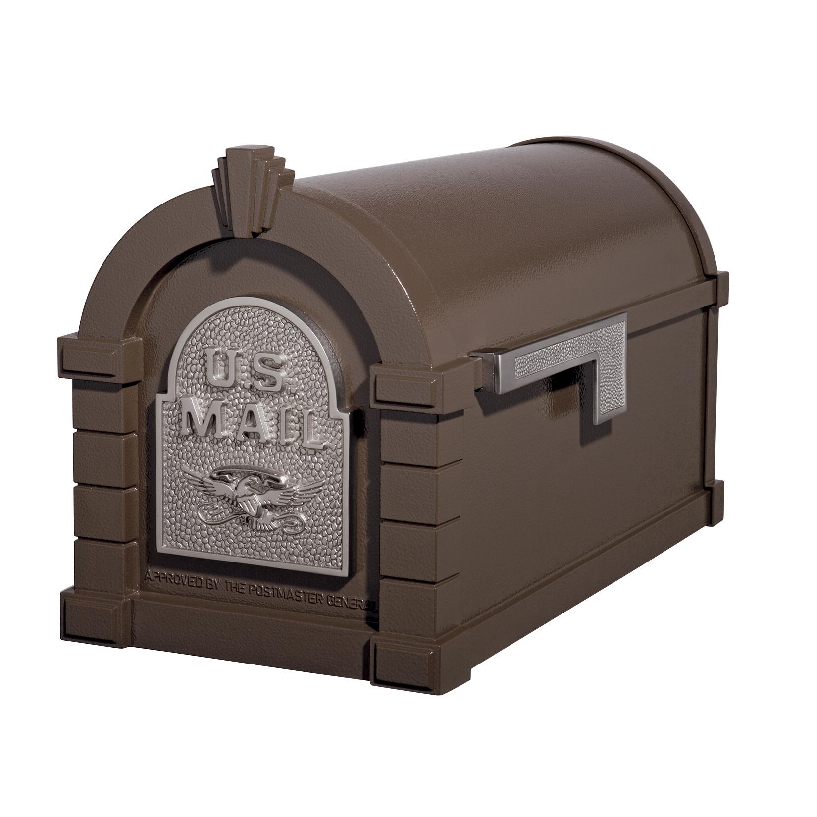 Gaines Eagle Keystone MailboxesBronze with Satin Nickel