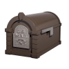 Gaines Eagle Keystone MailboxesBronze with Satin Nickel