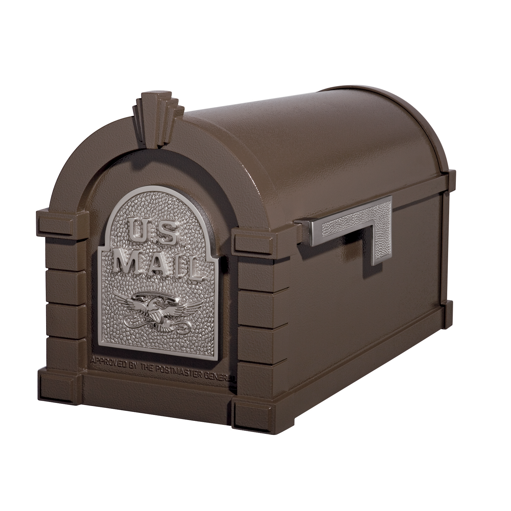 Gaines Eagle Keystone Mailboxes - Bronze with Satin Nickel