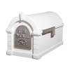 Gaines Eagle Keystone MailboxesWhite with Satin Nickel