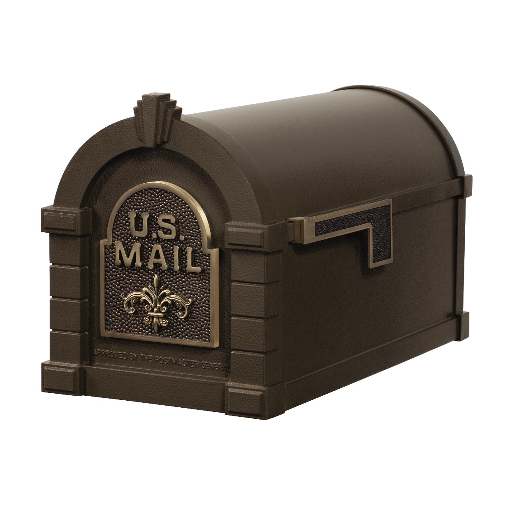 Gaines Fleur De Lis Keystone MailboxesBronze with Antique Bronze