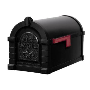 Gaines Fleur De Lis Keystone MailboxesAll Black