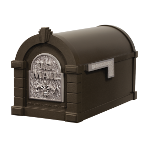 Gaines Fleur De Lis Keystone MailboxesBronze with Satin Nickel
