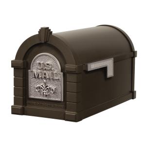 Gaines Fleur De Lis Keystone MailboxesBronze with Satin Nickel