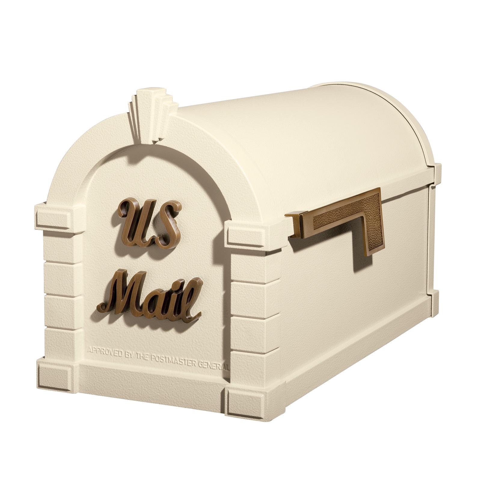 Gaines Signature Keystone MailboxesAlmond with Antique Bronze
