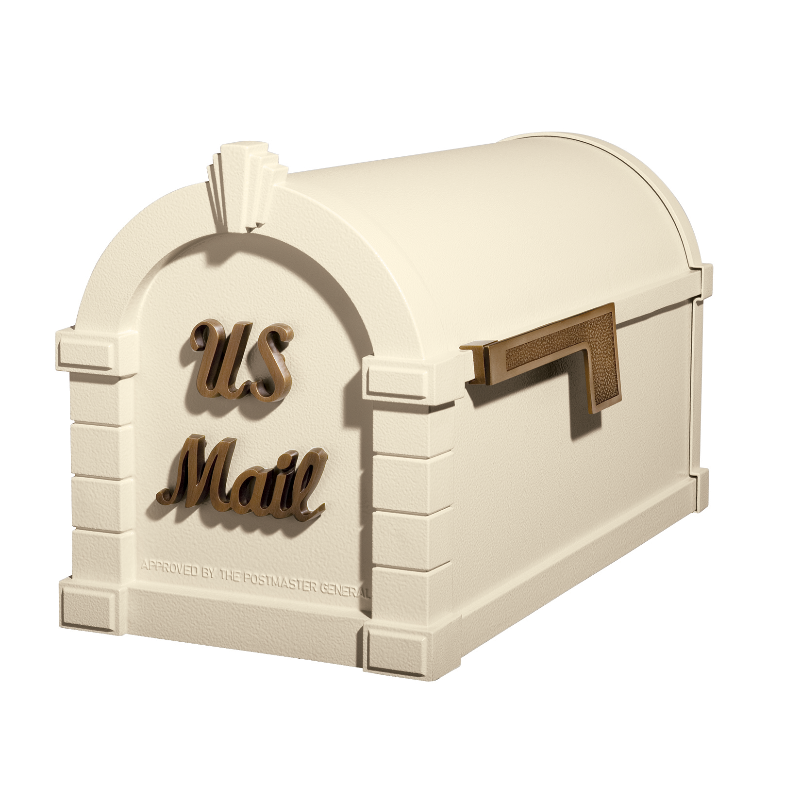 Gaines Signature Keystone Mailboxes - Almond with Antique Bronze