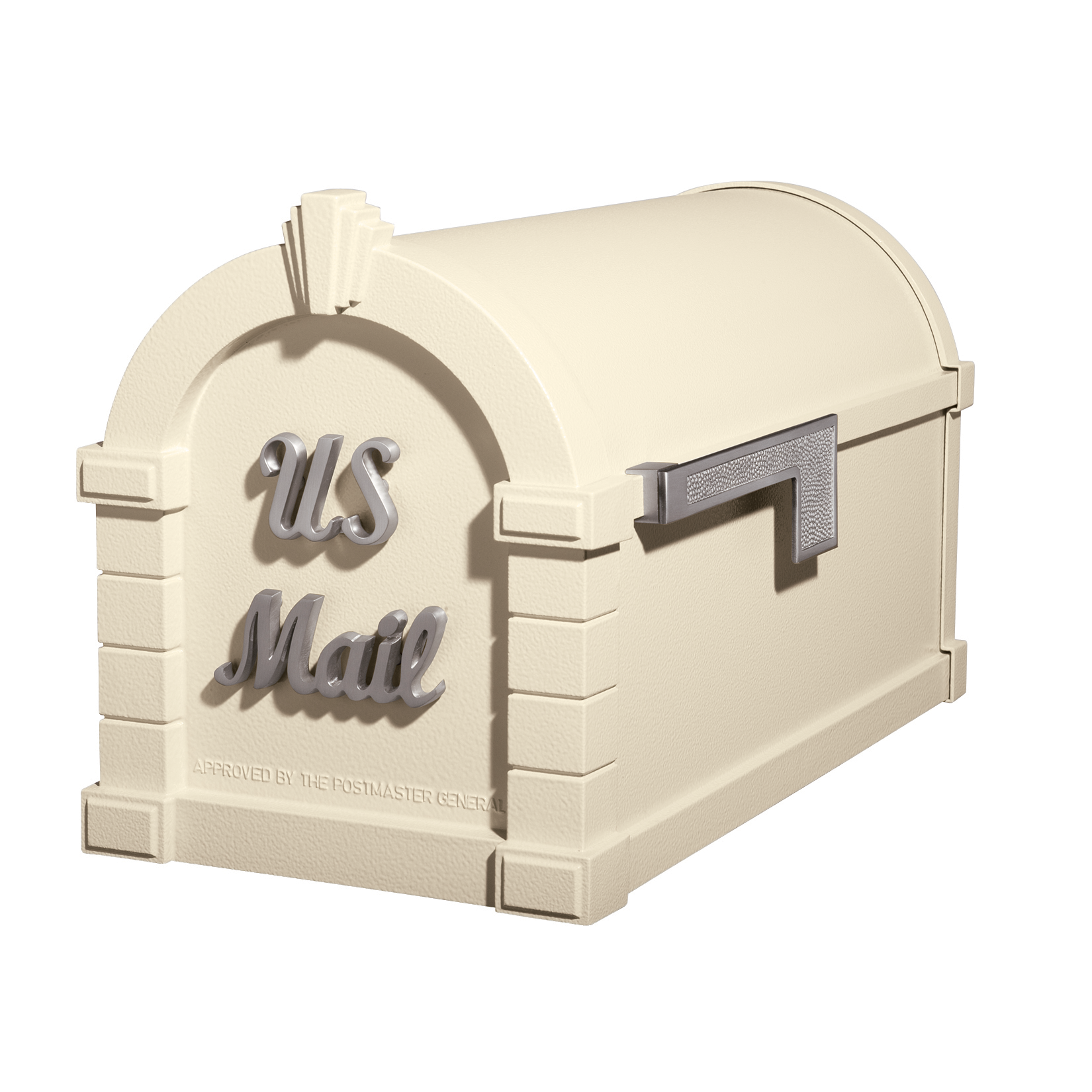 Gaines Signature Keystone Mailboxes - Almond with Satin Nickel
