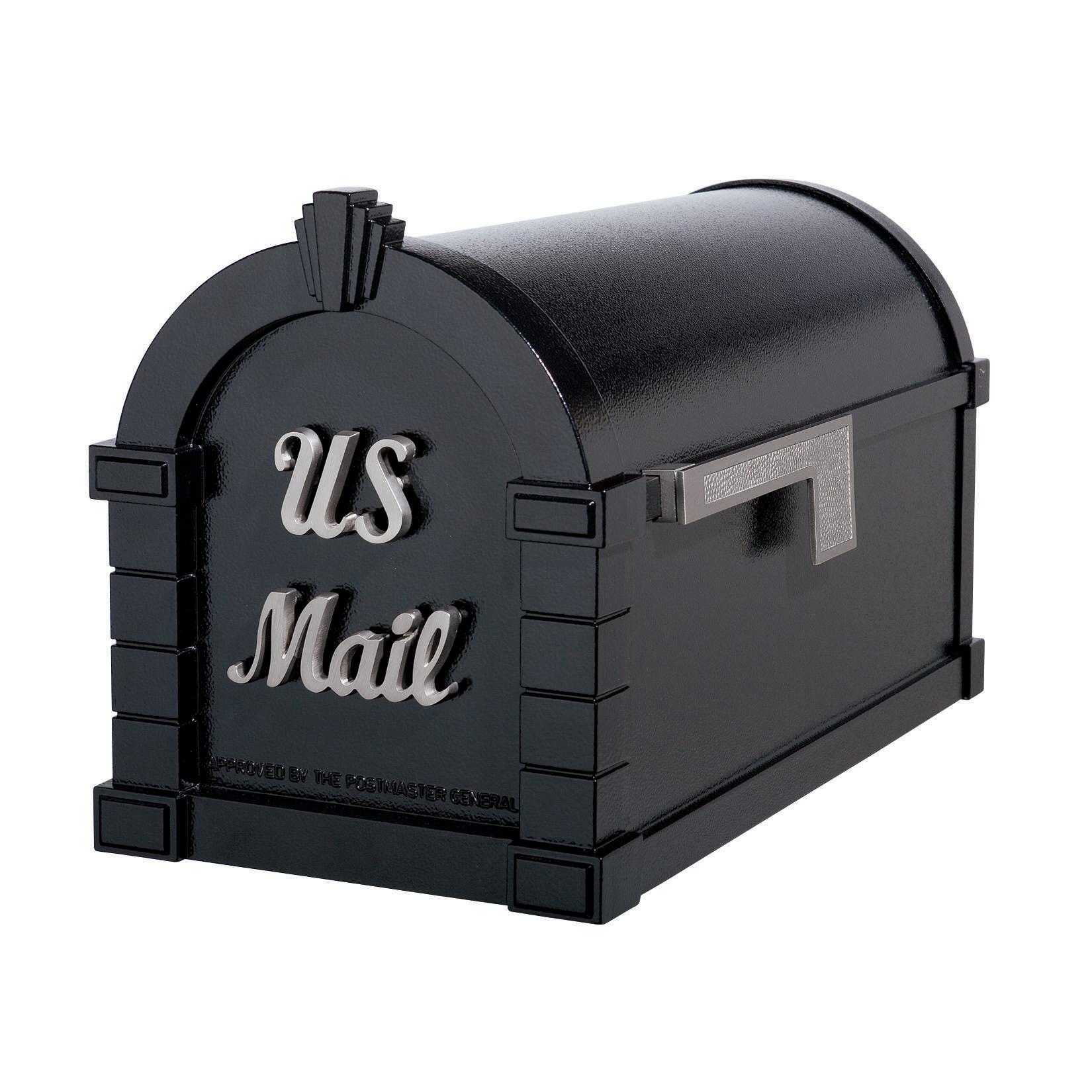 Gaines Signature Keystone MailboxesBlack with Satin Nickel