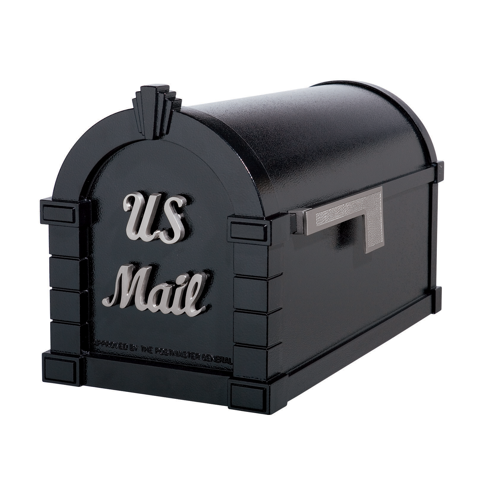 Gaines Signature Keystone Mailboxes - Black with Satin Nickel
