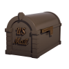 Gaines Signature Keystone MailboxesBronze with Antique Bronze