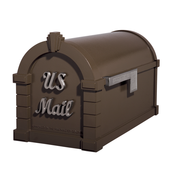Gaines Signature Keystone MailboxesBronze with Satin Nickel