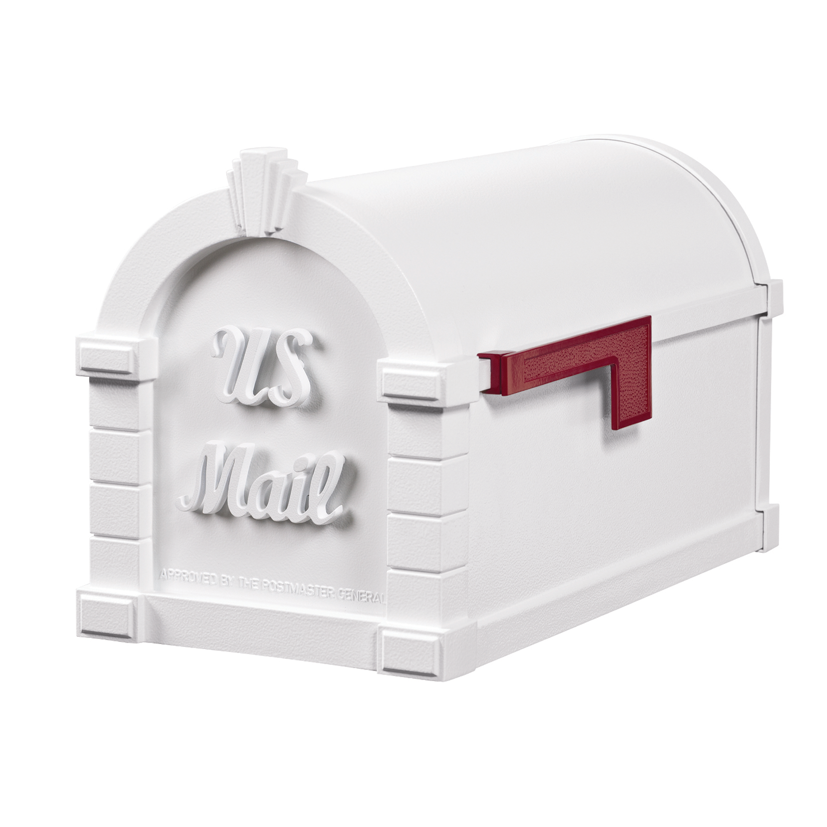 Gaines Signature Keystone Mailboxes - All White