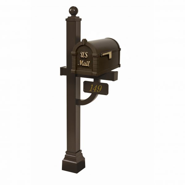 Gaines Signature Keystone Mailbox with Deluxe Post