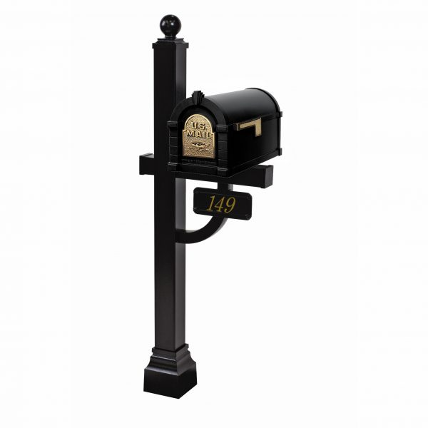 Gaines Eagle Keystone Mailbox with Deluxe Post