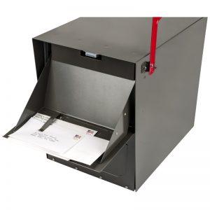 Oasis Locking Post Mounted Mailbox Door Open