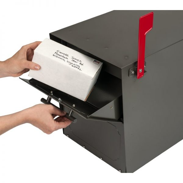 Oasis Locking Post Mounted Mailbox with Package