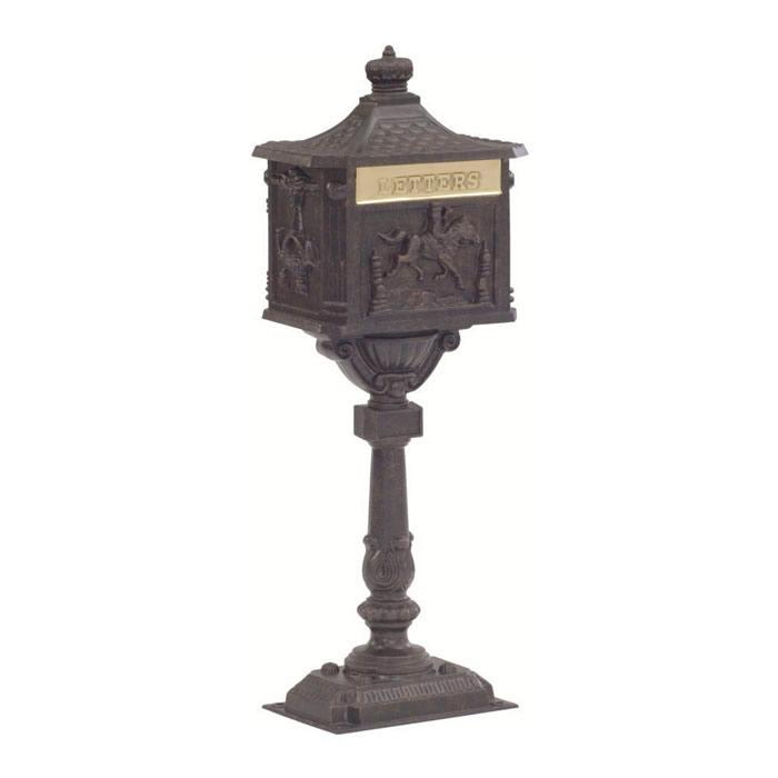 Victorian Pedestal Mailbox Bronze