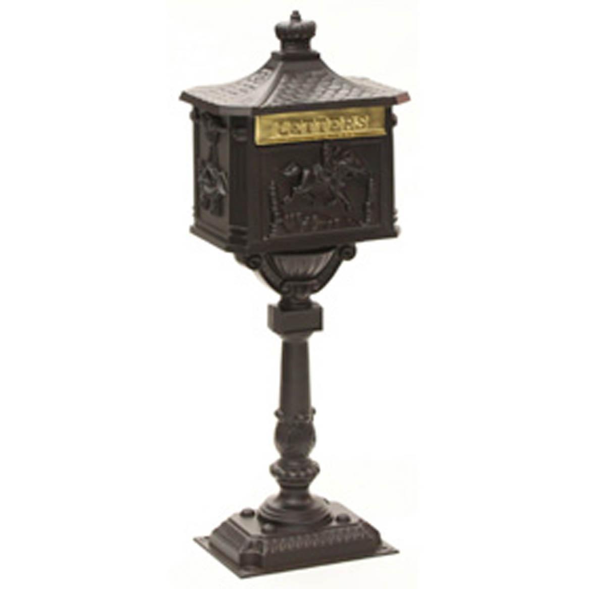 Amco Victorian mailbox with Post Dark Bronze