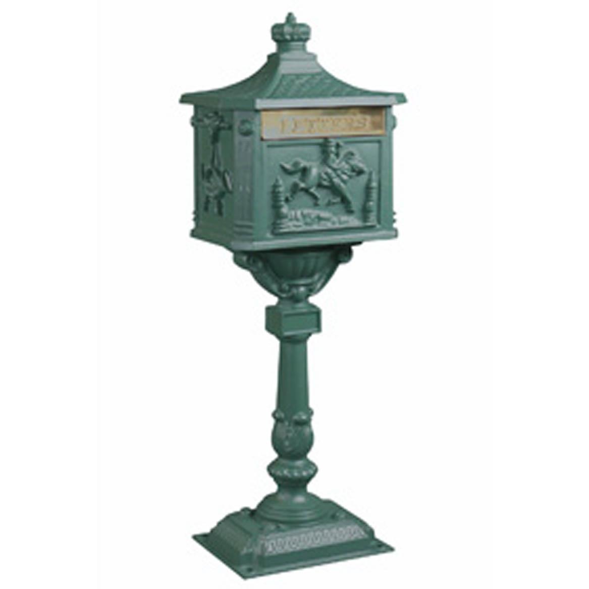 Victorian Pedestal Mailbox Green 700X700