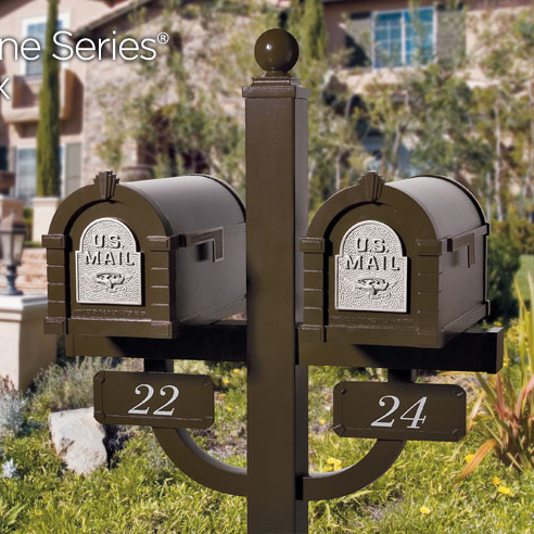 Gaines Eagle Keystone Mailboxes  Double Deluxe Post