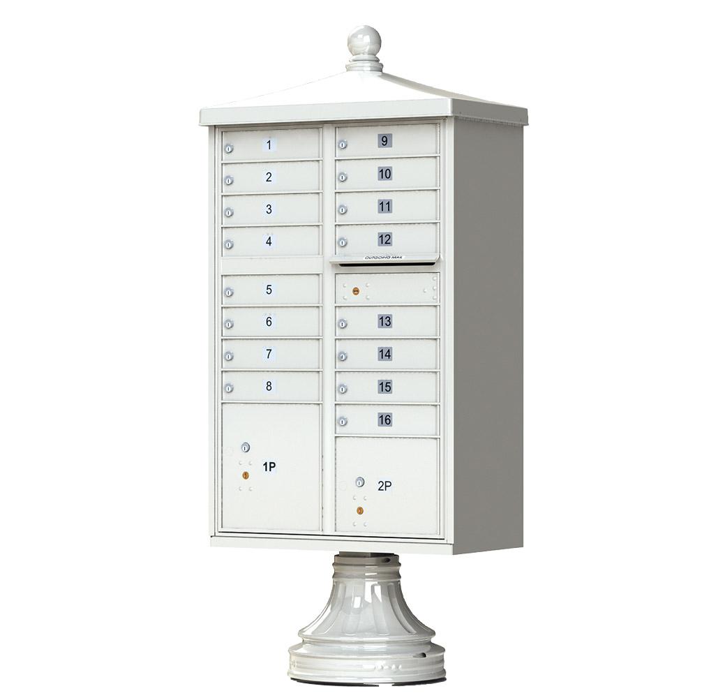 16 Door CBU Traditional Postal Grey