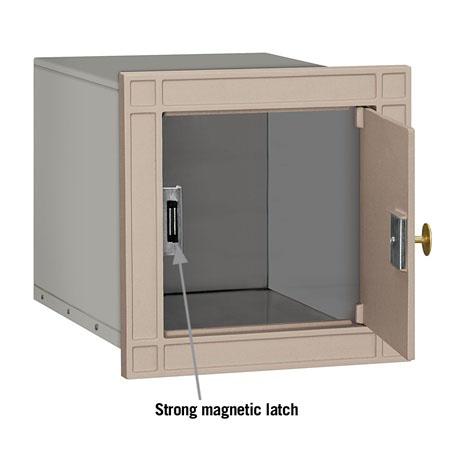 Salsbury Column Mailbox Beige Plain  Door