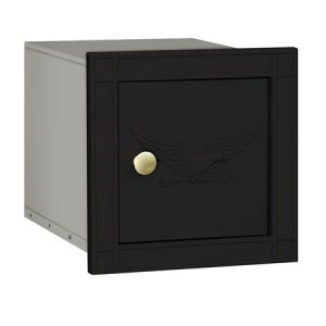 Salsbury Column Mailbox Black Eagle Door