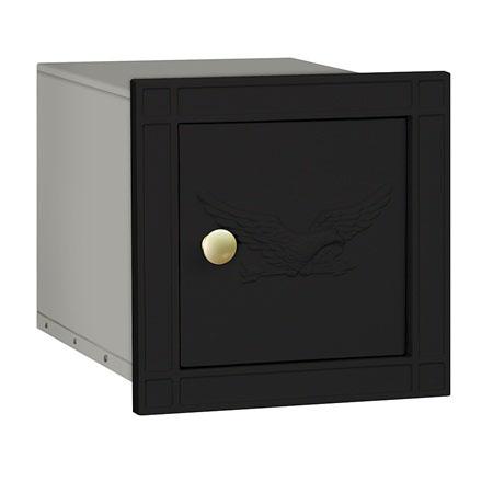 Salsbury Column Mailbox Black Eagle Door