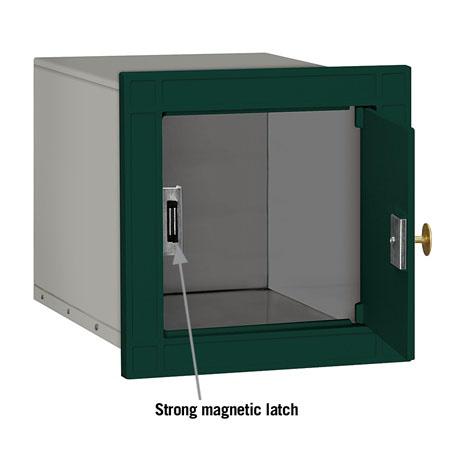 Salsbury Column Mailbox Green Plain  Door