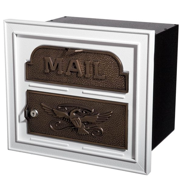 Gaines Classic Faceplate White With Antique Bronze