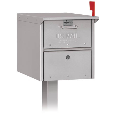 Salsbury Column Silver Roadside Mailbox