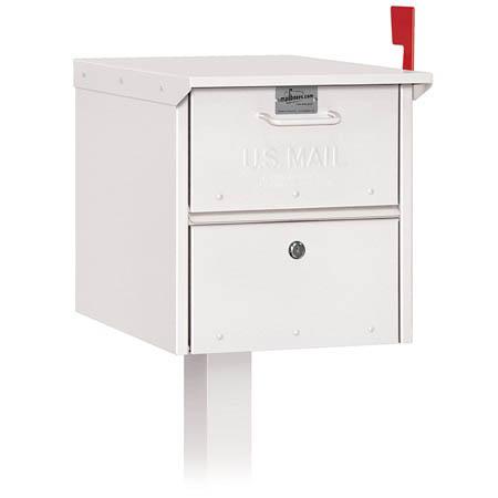 Salsbury Column White Roadside Mailbox