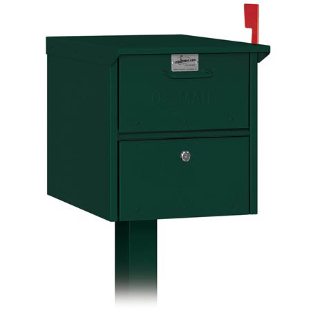 Salsbury Column Green Roadside Mailbox