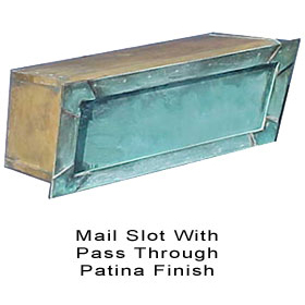 Salsbury Mail Slot with Pass Through Solid Brass / Patina Finish