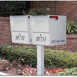 Oasis: Large Double Post Mount Locking Mailboxes