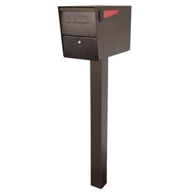 Locking Large Capacity Post Mount Mailboxes with Post