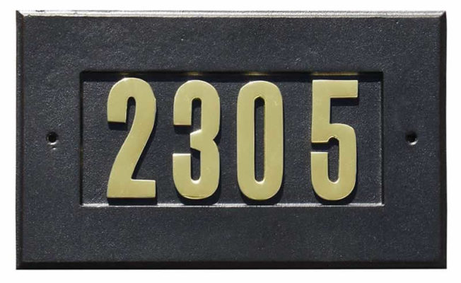 Address Plate in Black