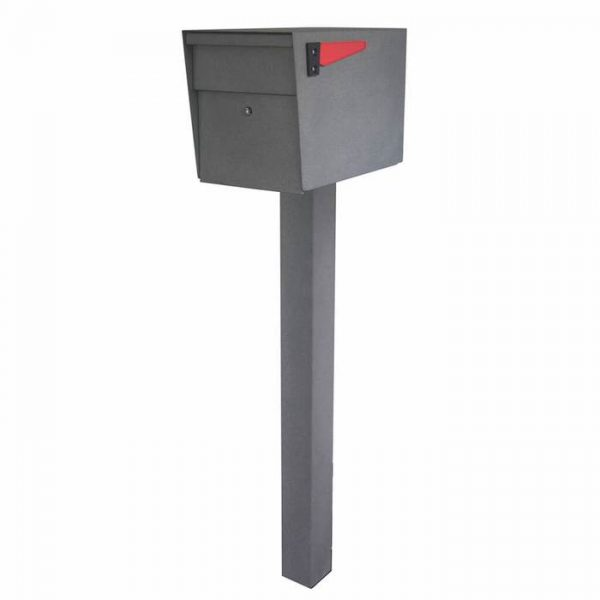 Mail Boss High Security Mailbox with Post Granite