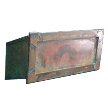 Mail Slot with Pass Through Copper Finish