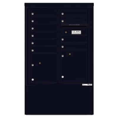 10 Door Florence Versatile 4C Depot Cabinet Cluster Mailboxes 4CADD-10 Black